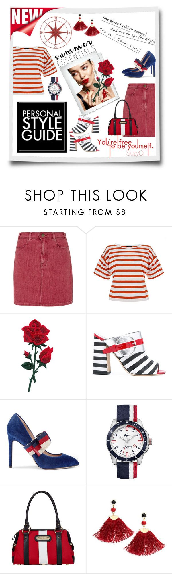 """AN EYE FOR STYLE"" by polyvore-suzyq ❤ liked on Polyvore featuring Guide London, KAROLINA, Frame, Theory, Pollini, Gucci, Lacoste, Davey's, Shashi and Home Decorators Collection"