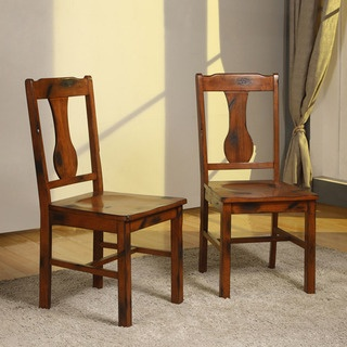@Overstock - Add additional seating to your dining area with these contemporary oak wood dining chairs. The set of two durable chairs is constructed from solid wood, curving back detail, and purposeful distressing to create a warm, rustic feel to any home.http://www.overstock.com/Home-Garden/Dark-Oak-Wood-Dining-Chairs-Set-of-2/6542558/product.html?CID=214117 $189.99