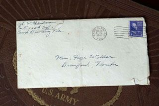The first letter from Sgt. Anderson to his future wife Faye Walker.