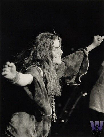 Janis at Woodstock, August 15, 1969.  She looks utterly blissful and triumphant.