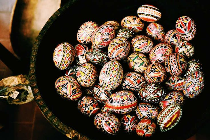 Painted eggs. Image by Mark Baker / Lonely Planet
