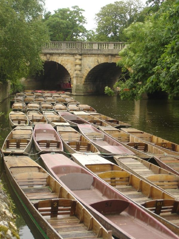 .Punting in Oxford -