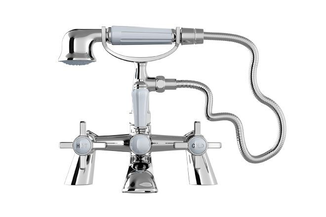 Edwardian Bath Shower Mixer Tap - Bathroom Taps | Bathrooms.com
