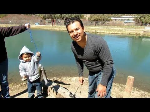 Trout Fishing At The Red River Fish Hatchery - (More info on: https://1-W-W.COM/fishing/trout-fishing-at-the-red-river-fish-hatchery/)
