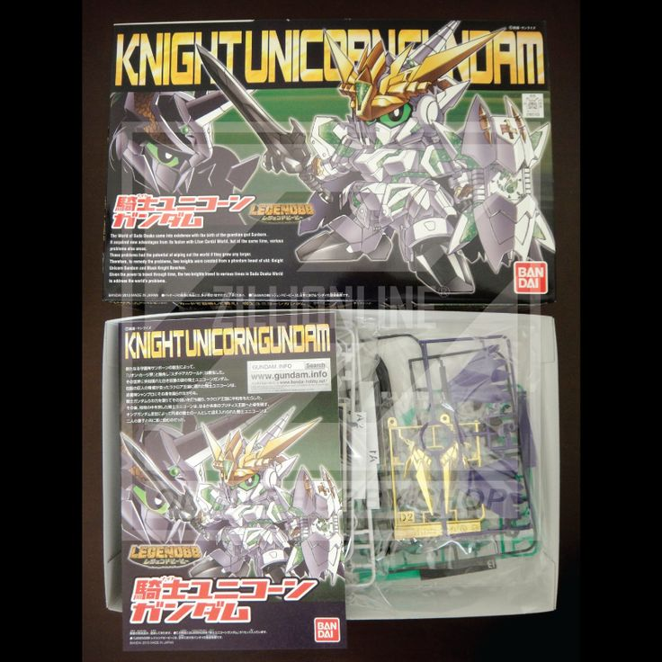 [MODEL-KIT] NON-SCALE - SD LEGEND BB KNIGHT UNICORN GUNDAM. Item Size/Weight : 31 x 20.2 x 5.8 cm / 234g. (*ITEM SIZE & WEIGHT BEFORE PACKAGED). Condition: MINT / NEW & SEALED RUNNER. Made by BANDAI.