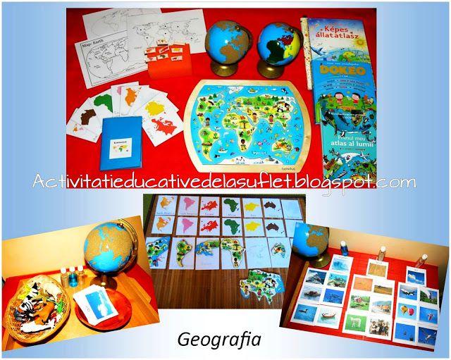 GEOGRAFIA in stil MONTESSORI (3 ani si 3 luni) - Prima parte