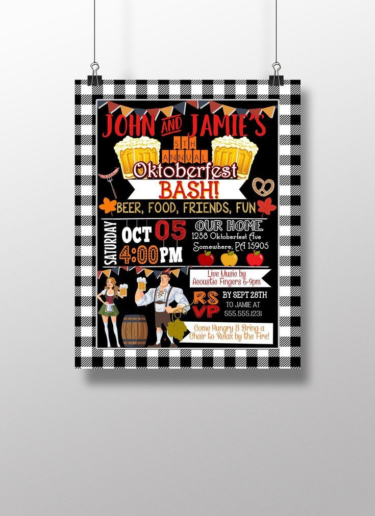 Oktoberfest-Party – Oktoberfest einladen – Oktoberfest-Party-Einladungen – Herbst … – Oktoberfest: Es kommt!