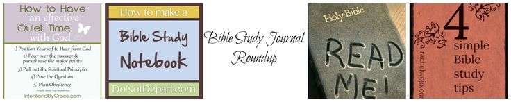 Bible Study Journal roundup