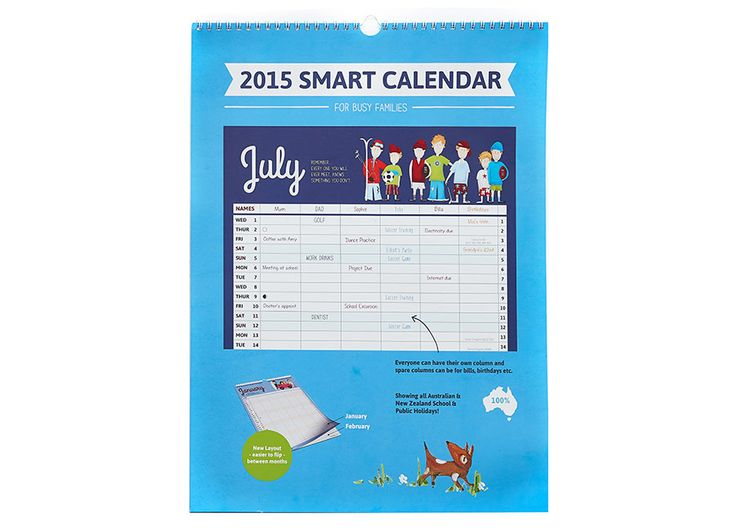 We also stock the 2015 Painted Fun Style Family Organiser Calendar in a spiral bound with heavy duty 310gsm paper. This is our top of the range 2015 calendar. $25.99 - Includes free shipping within Australia. #2015 #calendar
