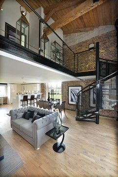 Industrial Living Room Design Ideas, Pictures, Remodel and Decor