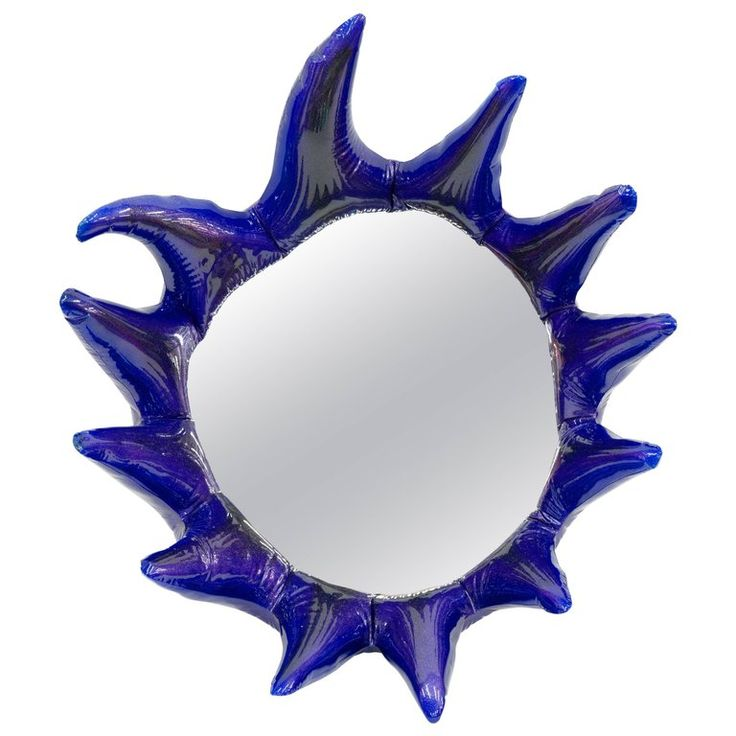 Misha Kahn, Purple Wall Mirror, Resin, Automotive Paint | From a unique collection of antique and modern wall mirrors at https://www.1stdibs.com/furniture/mirrors/wall-mirrors/