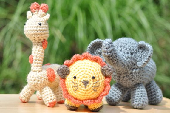 Crochet Elephant Stuffed Animal on Etsy, $18.00