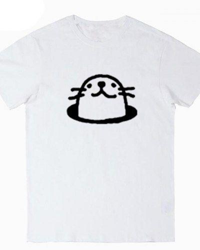 Cute seal t shirt for teenage girls marine animals tops