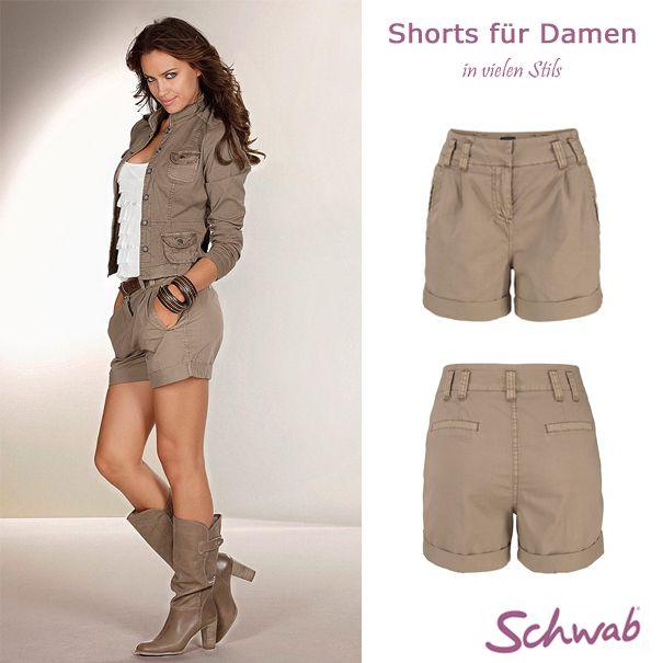 Modische Shorts für Damen für heiße Tage. #DamenShorts