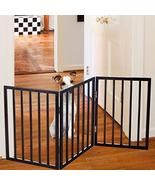 Foldable, Free-Standing Wooden Pet Gate- Light Weight, Indoor Barrier fo... - $49.99