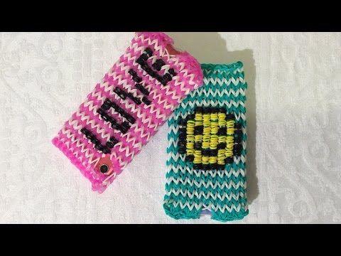 Rainbow Loom Nederlands, Iphone, telefoon/ Ipod hoesje met Smiley. Deel 2 - YouTube