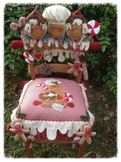 Cartamodelli Gingerbread : Cartamodello cuscino e spalliera con gingerine pasticcione