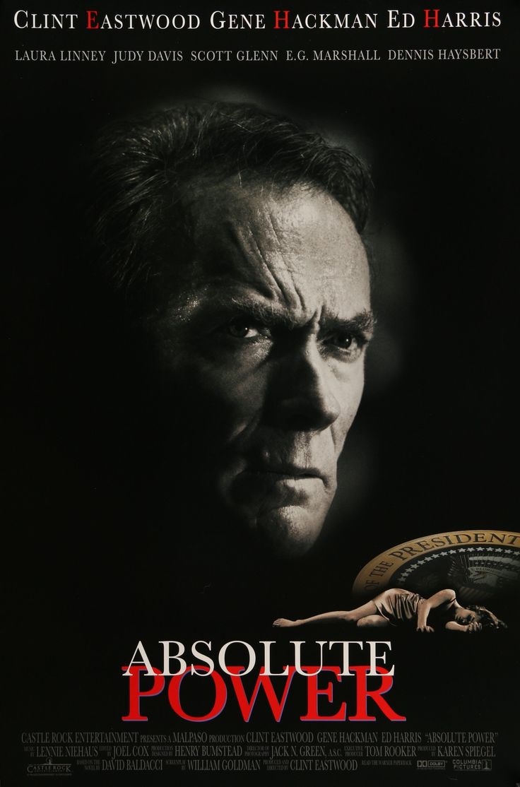 "Film: Absolute Power (1997) Year poster printed: 1996 Country: USA Size: 27""x40"" ""Remember, tomorrow is promised to no one."" This is a vintage, advance one-sheet movie poster from 1996 for the film Ab"