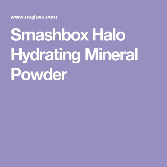 Smashbox Halo Hydrating Mineral Powder