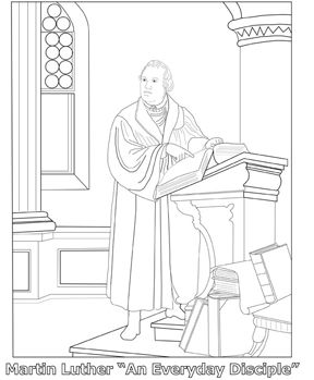 Martin luther coloring page hs protestant reformation for Martin luther coloring pages