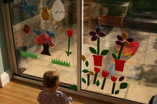 foam sheets + water = window art: Sticks Crafts, Imagination Trees, Spring Foam, Foam Window, Plays Ideas, Windows, Crafts Foam, Window Clings, Window Murals