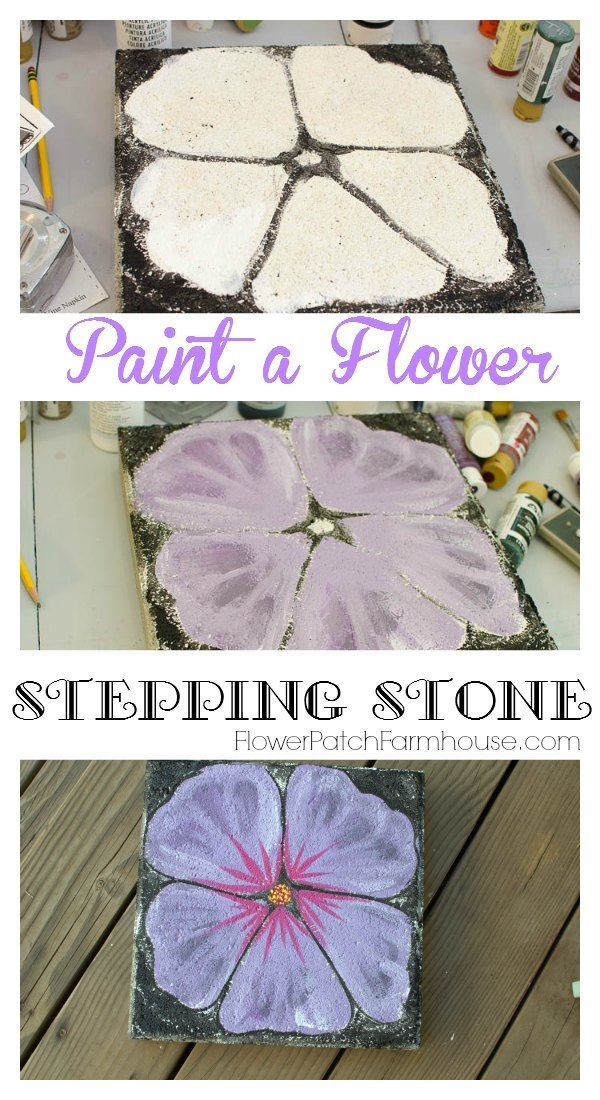 Paint a Pretty Flower Stepping Stone, FlowerPatchFarmhouse.com