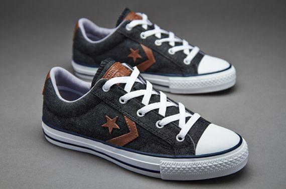 Converse Cons Star Player Denim - Denim/Brown Leather