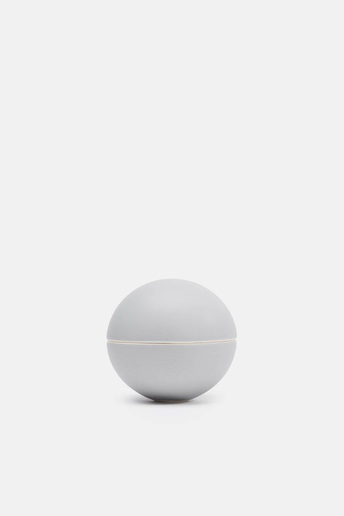 Matte Medium Grey Small Spherical Lidded Container                      – The Line
