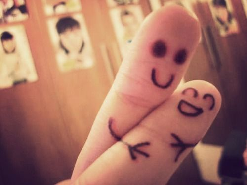 ¡Ji!Stuff, Happy, Fingers People, Random, Funny, Things, Fingers Art, Smile, Fingers Hug