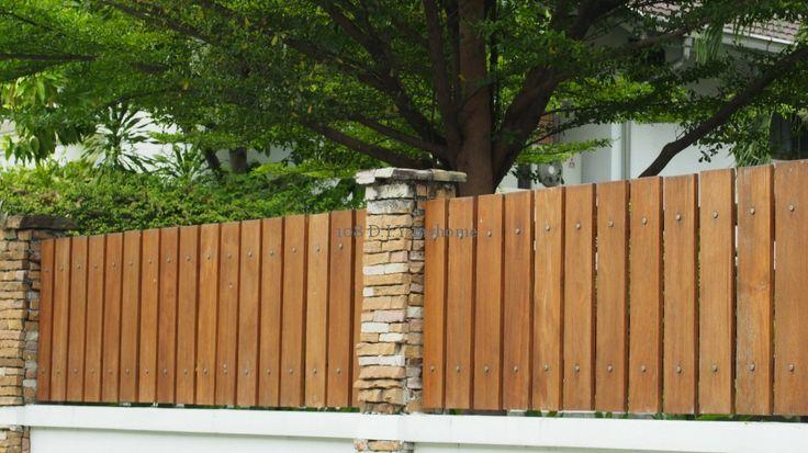 การตกแต่งรั้วหน้าบ้านด้วยไม้ระแนง(ไม้เต็ง) #fence #home
