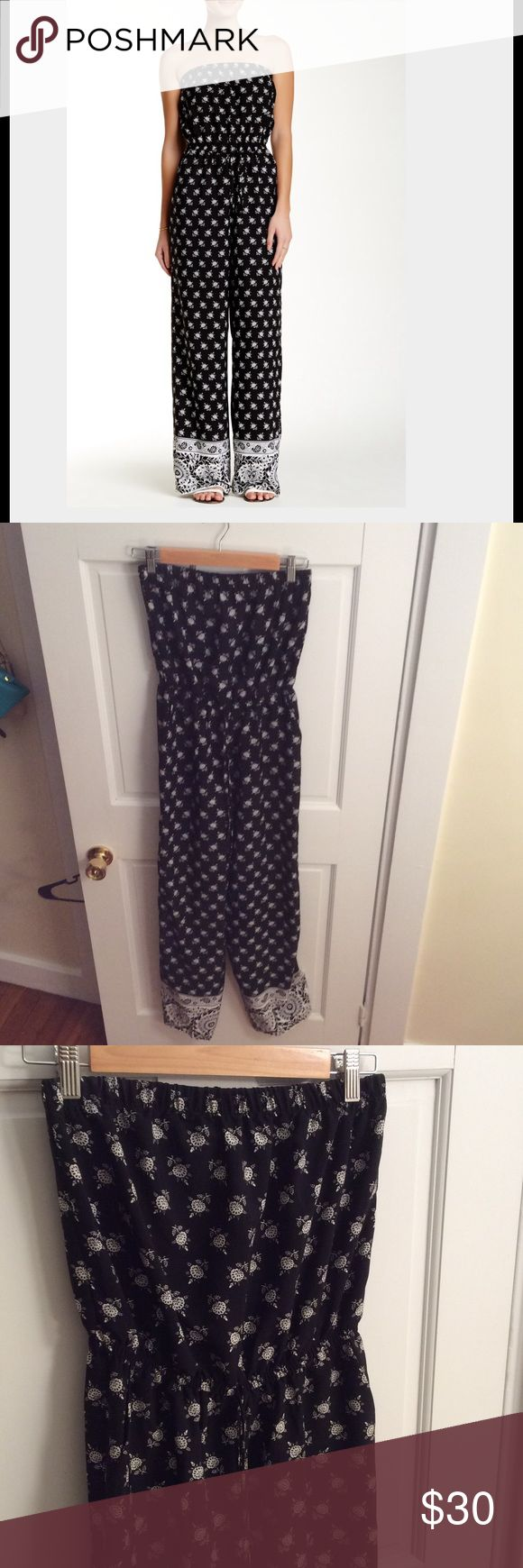 Strapless Jumpsuit OOTD strapless black and white jumpsuit. Only worn once and in excellent condition! OOTD Other