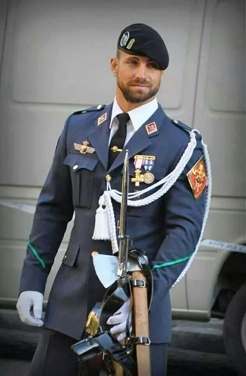 Nothing hotter like a man in suit or uniform..