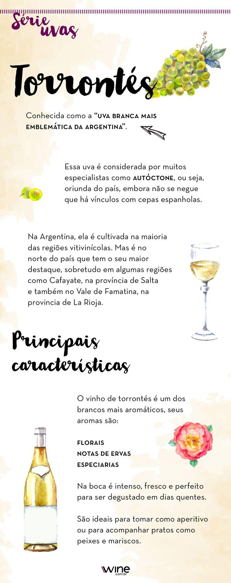 Lá na Argentina ela é uma das mais famosas! E você, conhece a uva Torrontés? #wine #vinho #vinhobranco