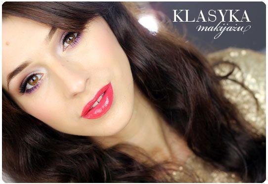 Alina Rose Makeup Blog: Makijaż sylwestrowy: klasyka czyli czerwone usta i oko z kreską:)