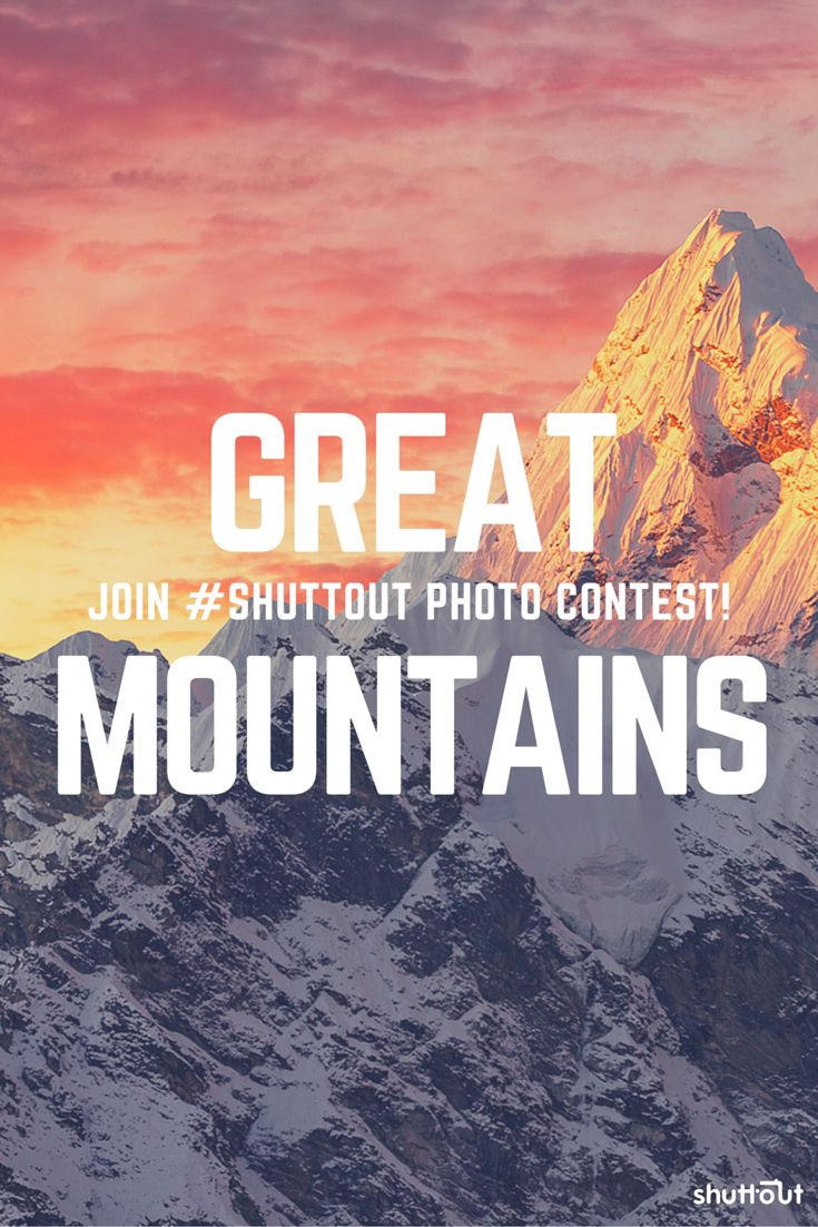 Amazing #pictures of #mountains. Check out this cool #photography #contest and join before it's too late.  #landscape #photo #contests