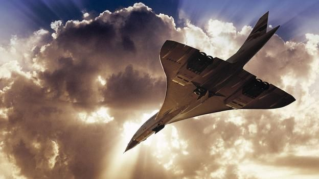 Concorde heading for the clouds