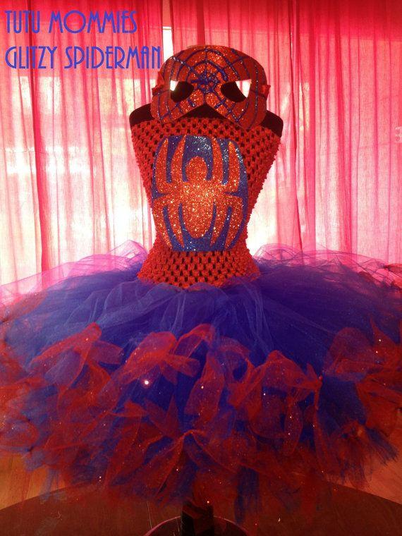 Spiderman Halloween Tutu Dress Costume Child Sizes by TutuMommies, $45.00