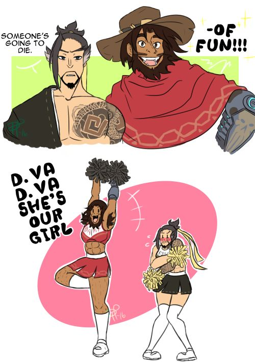 oh my god The best thing is that I totally see McCree doing this