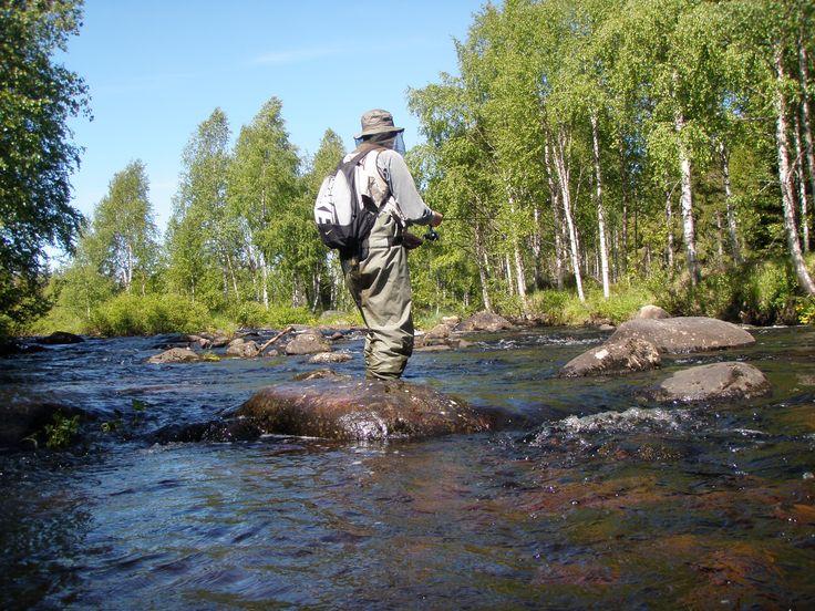 hirvipirtit lapland Finland Taivalkoski fishing in Iijoki Jurmu 2