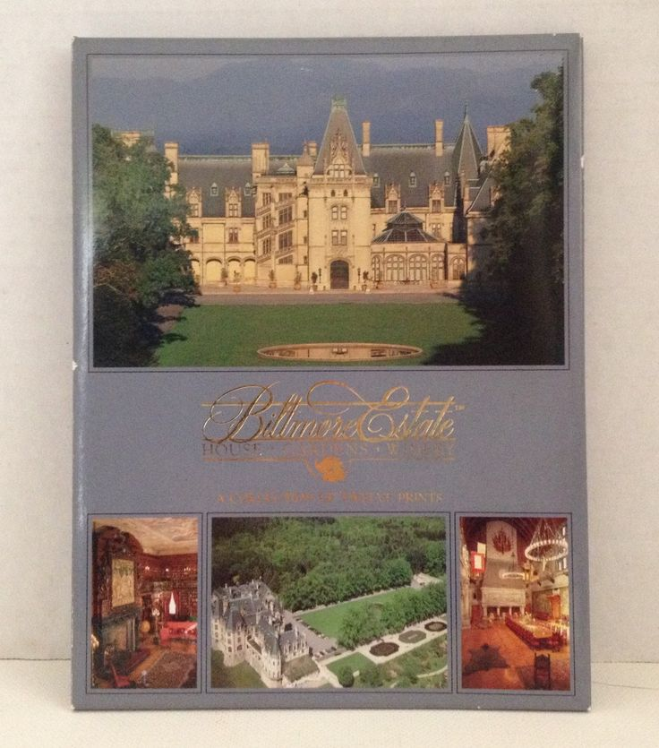 Biltmore Estate Prints Set of 12 Souvenir Vintage Postcards Asheville NC #Vanderbilt House #NorthCarolina #Asheville #postcard #vintage
