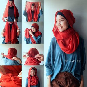 Hijab Tutorial. Super Simple! No pins needed and any other sharp things.