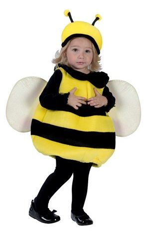 Bumble bee toddlers costume