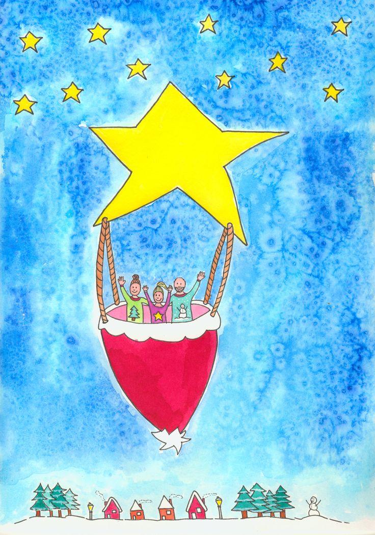 Illustratie: kerst 2015. Gemaakt door Jiska Clevering-Hartsuiker van Sterrig.