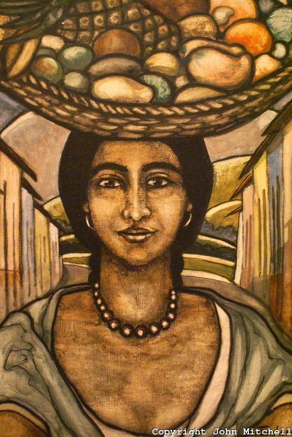 "Salarrué, ""Vendedora de fruta"". Museo de Arte de El Salvador (MARTE), San Salvador, El Salvador"
