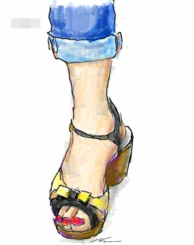 It is a sketch of shoes beige and black. I drew while commuting on a train with the GALAXY Note.