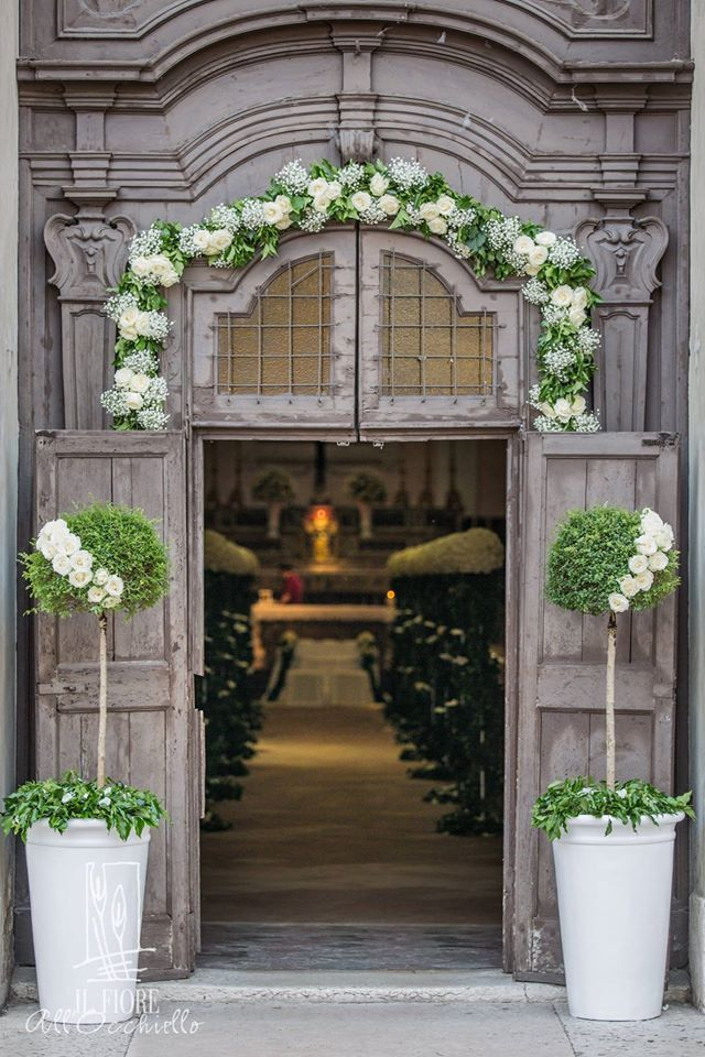 Love the topiaries they would be pretty by the doors to the church or to use at the pavilion entrance