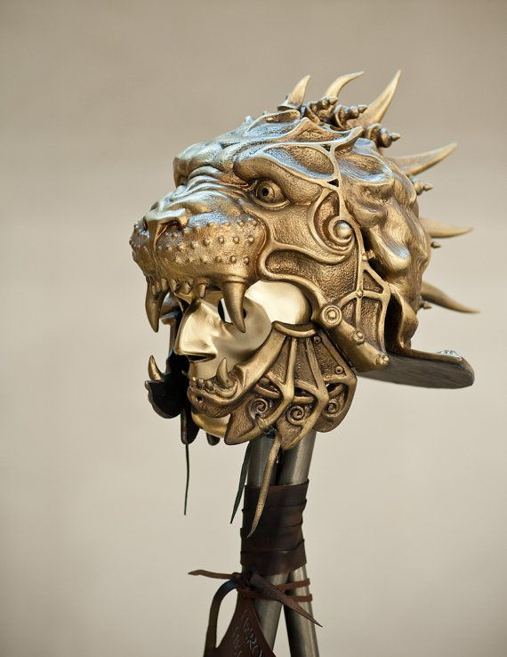 Mask Helmet,Gladiator Helmet,Predator Helmet,Lion Sculpture,Ancient Helmet,Military Armor,Metal Sculpture,Museum Quality Art,Mask Warrior