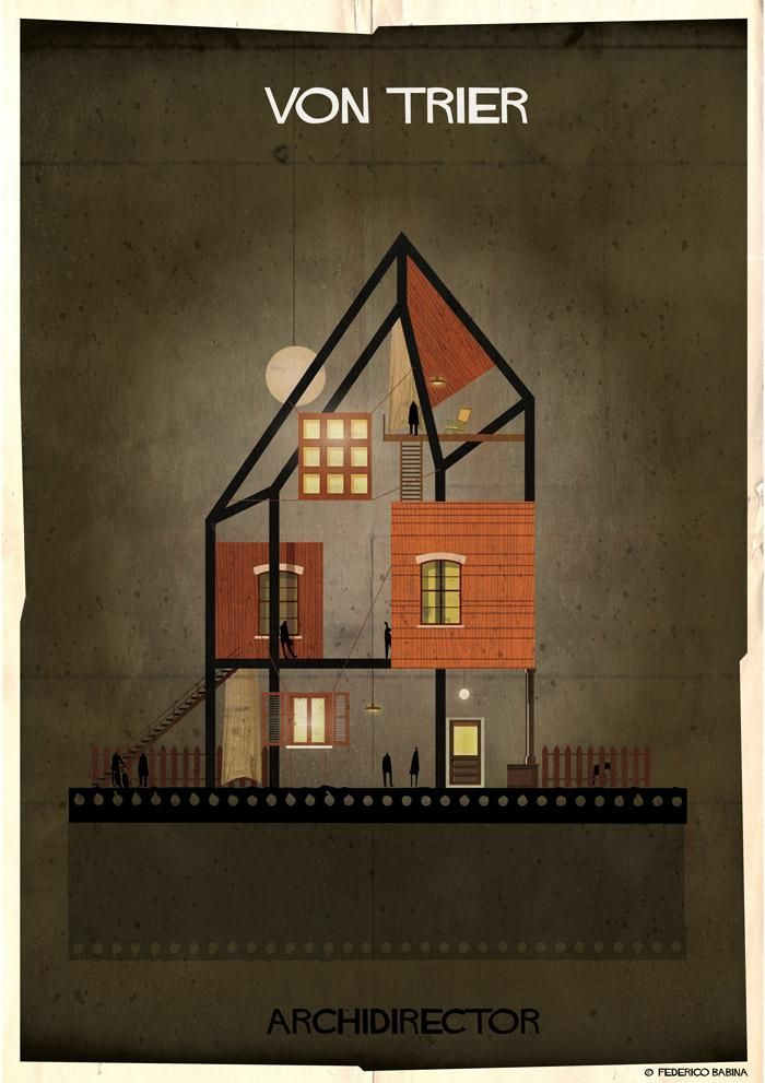 ARCHIDIRECTOR   Lars von Trier @fbabina #federicobabina http://www.federicobabina.com