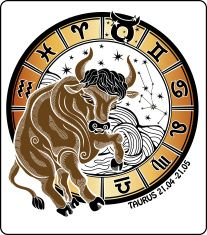 Taurus and the zodiac sign.Horoscope circle. Vector Illustration vector art illustration