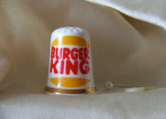 Burger King Thimble by cynthiasattic on Etsy, $21.00